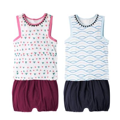 baby童衣 可愛印花無袖背心加短褲 2件組 60363