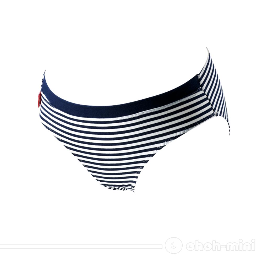 ohoh-mini孕婦裝 海軍條紋‧休閒低腰孕婦內褲(藍)