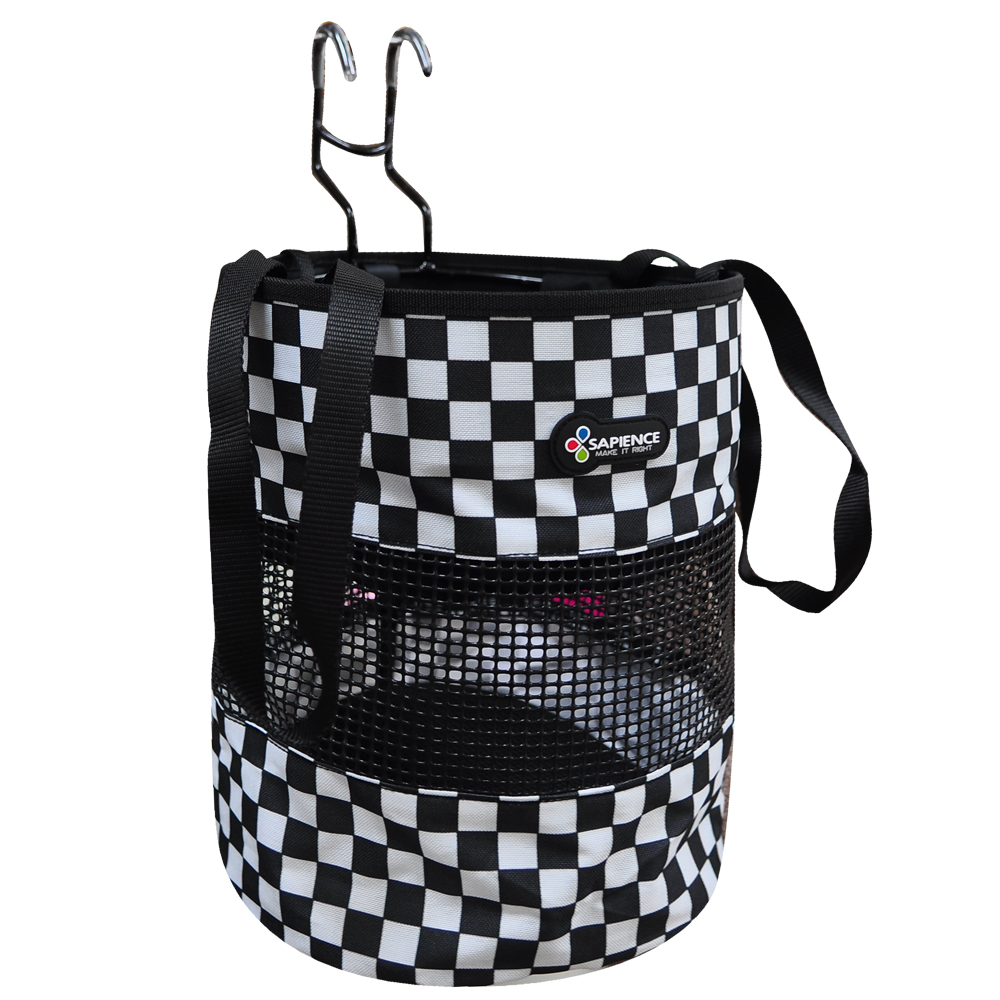 SAPIENCE 自行車用格紋寵物袋/前置物袋