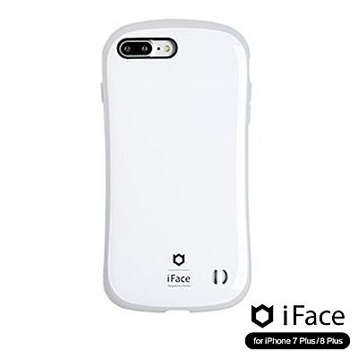 iFace iPhone8/8+ 雙素材吸震抗衝擊手機殼(馬卡龍)-白/灰