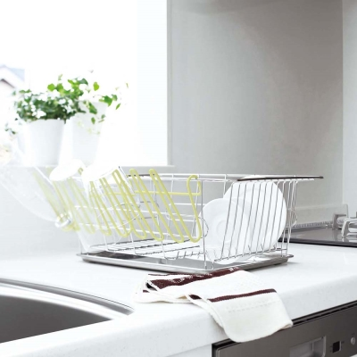【YAMAZAKI】EASY吊掛瀝水架-綠★餐具收納/置物架/廚房用品