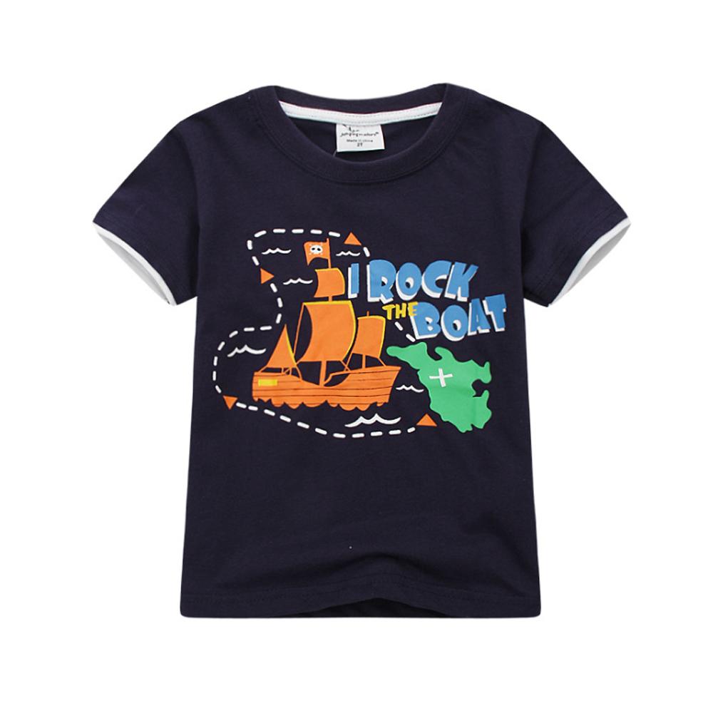 男童 海上航運 純棉短袖T恤