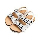 迪士尼 米奇 復古滿版造型 休閒涼鞋-白