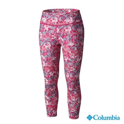 【美國Columbia哥倫比亞】快排彈性七分褲-女-艷粉紅(UAL83050HP)