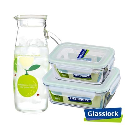 Glasslock強化玻璃微波保鮮盒-日常時光3件組