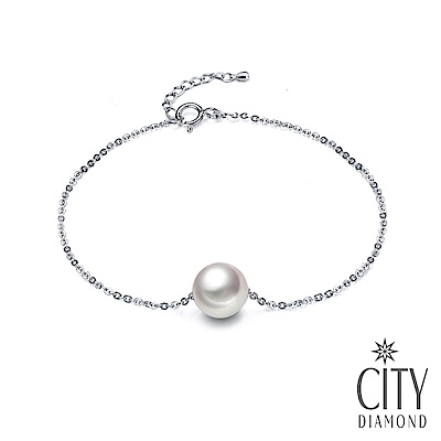 City Diamond引雅【東京Yuki】日本AKOYA單顆珍珠手鍊