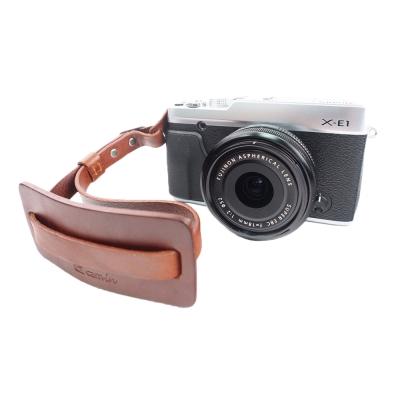 Cam in 真皮風格可調式相機手腕帶(共2色)-棕色