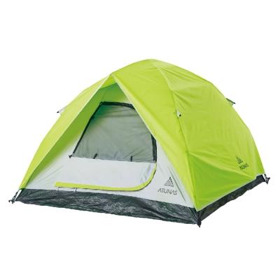 【ATUNAS 歐都納】戶外野趣露營3-4人單門快速帳蓬 A-TENT1602 綠/灰