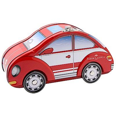 Faber Castell紅色系汽車30色造型存錢筒連接筆