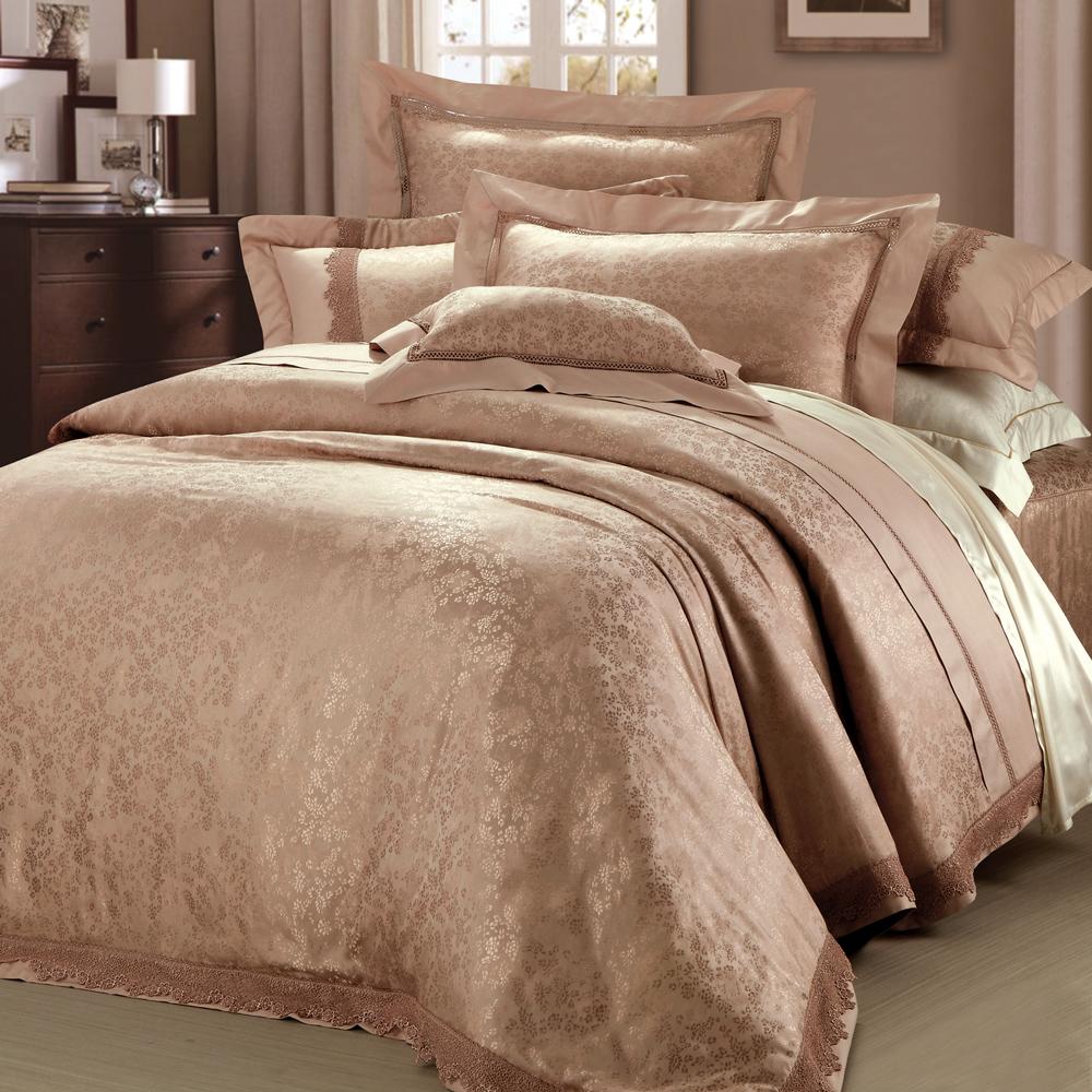 法國MONTAGUT - 暮光花林 - 雙人加大七件式鋪棉床罩組