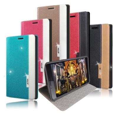 VXTRA Samsung Galaxy C9 Pro 韓系潮流磁力皮套