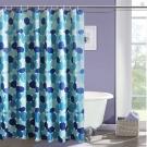 LISAN特級加厚防水浴簾A-002經典不凡 圓藍之美