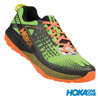 HOKA ONE ONE 越野跑鞋 Speed Instinct 2 男 綠