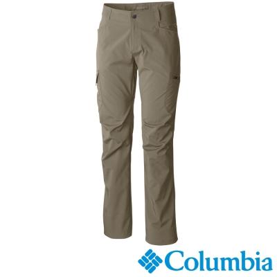 【Columbia哥倫比亞】男-防曬50防潑彈性長褲-卡其 UAM15690KI