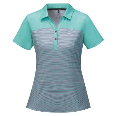【ATUNAS 歐都納】女款涼感防曬吸濕排汗快乾短袖POLO衫A-P1703W粉綠