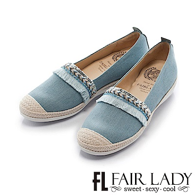 Fair Lady Soft Power軟實力 花邊教主樂福休閒鞋 淺藍