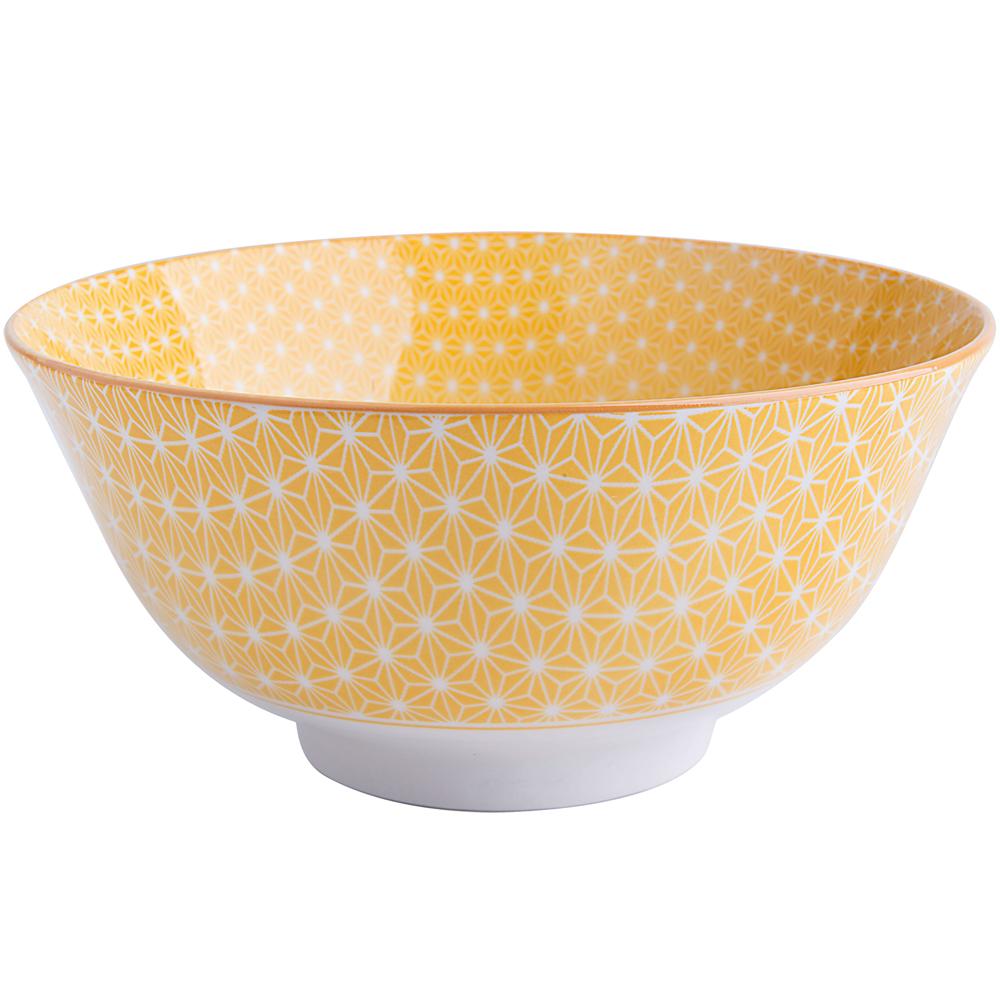 EXCELSA Oriented瓷餐碗(星紋黃15.5cm)