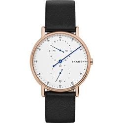 Skagen Signature 北歐時尚單針手錶-白x玫塊金框/40mm