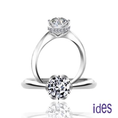 ides愛蒂思 GIA鑑定1克拉F/VS1八心八箭完美3EX車工鑽石戒指