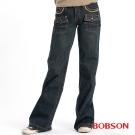 BOBSON 女款貼帶寬管中喇叭褲