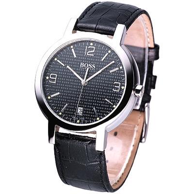 HUGO BOSS同名LGOG復刻錶盤皮帶男錶(17101313/6C26A)黑/37mm
