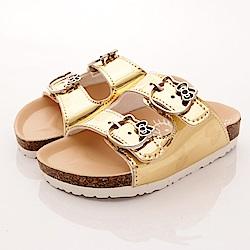 HelloKitty童鞋 軟木涼鞋款 EI17956 金 (中小童段)T1