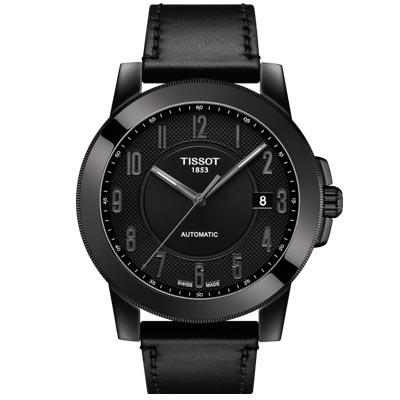 TISSOT 天梭紳士系列機械錶-44mm-黑