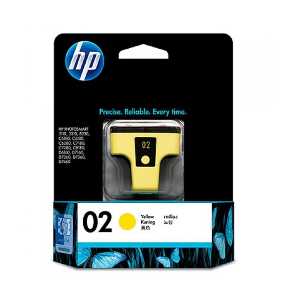 HP C8773WA NO.02 原廠黃色墨水匣(一入)