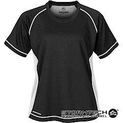 【加拿大STORMTECH】H2X排汗透氣耐久TEE-SAT035女-黑白