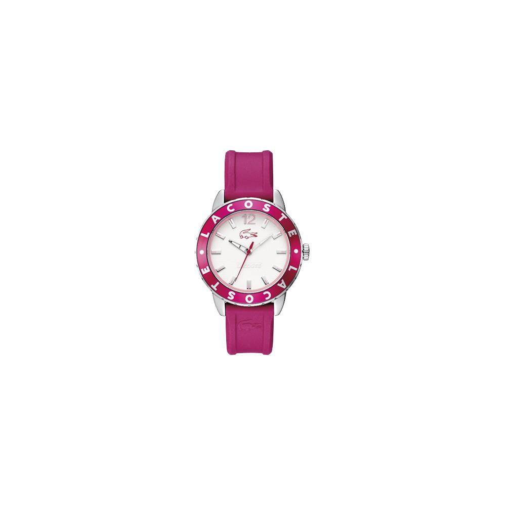 Lacoste 鱷魚 玩家風格腕錶-桃紫/40mm