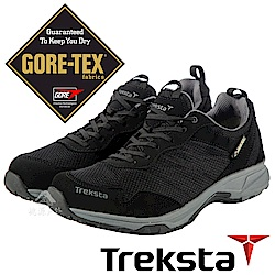 Treksta 男 Gore-Tex防水健行鞋│休閒鞋『黑灰』KR17DMB