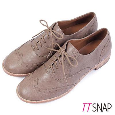 TTSNAP牛津鞋-MIT全真皮-牛皮沖孔星星雕花