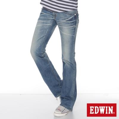 EDWIN MISS503袋蓋靴型牛仔褲_女_拔淺藍