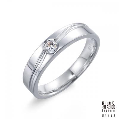 點睛品 Infini Love Diamond-婚嫁系列 鉑金鑽石對戒戒指(女戒)