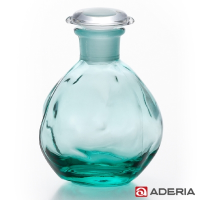 【ADERIA】日本進口圓形玻璃調味罐100ml(藍綠)