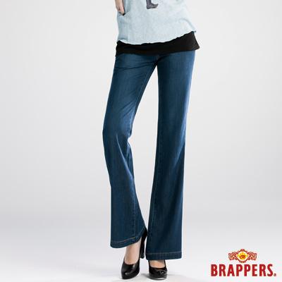 BRAPPERS 新美腳Royal系列-女用天絲棉寬版大喇叭褲-深藍
