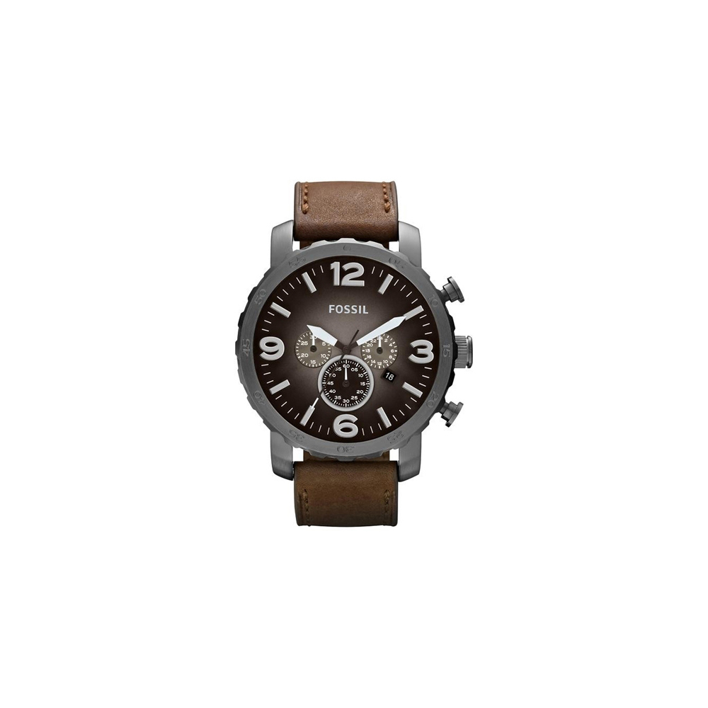FOSSIL 大世紀戰神三眼計時腕錶-灰黑/50mm