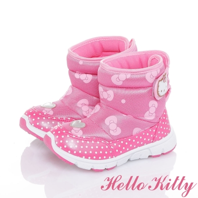 HelloKitty 保暖抗菌防臭運動高筒靴童鞋-粉