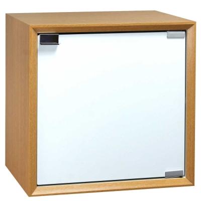 魔術方塊30系統收納櫃/木門櫃-原木色