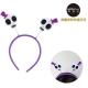 摩達客 萬聖節派對頭飾-紫白彈簧骷髏造型髮箍 product thumbnail 1