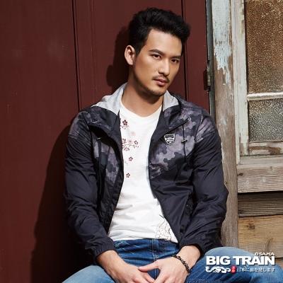 BIG TRAIN 數位迷彩防風衣-男-黑色