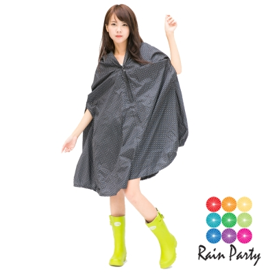 【RainParty】日本 『飛鼠裝』 雨/風衣系列   時尚點點_黑色
