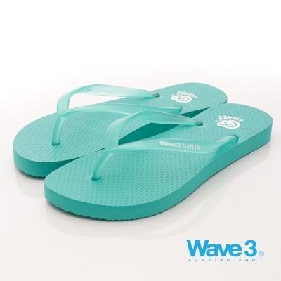 【WAVE3女】LOGO環保果凍人字拖-果綠(17206107)