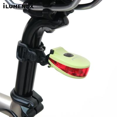 【iLUMENOX】台灣製超亮鱷魚LED警示尾燈-綠
