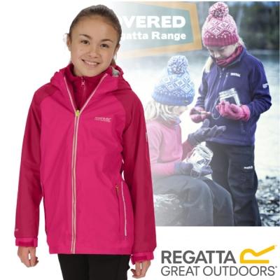 【REGATTA】兒童 超潑反光透氣防風保暖二件式外套/玫瑰紅
