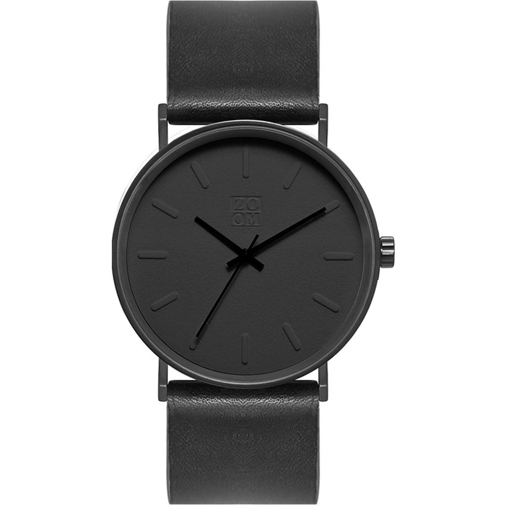 ZOOM - Lounge 隨性時光設計腕錶-黑/41mm