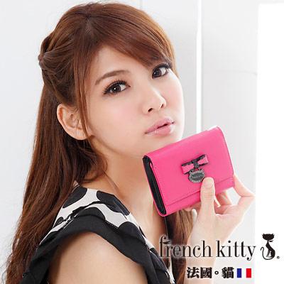 【french kitty】浪漫風尚-L- Lady系列三折短夾-桃紅