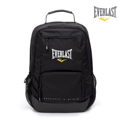 EVERLAST 拳擊運動品牌-多功能後背包-黑