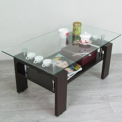 Amos-時尚收納8mm強化玻璃茶几桌W90*D50*H41 CM