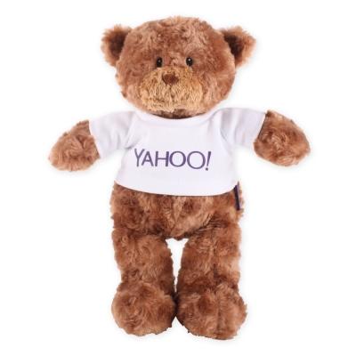 Yahoo! LOGO短T毛絨公仔-小棕熊